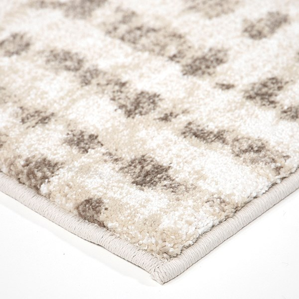 Ivory, Beige, White (8229) Abstract Area Rug