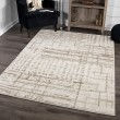 Product Image of Ivory, Beige, White (8229) Abstract Area Rug
