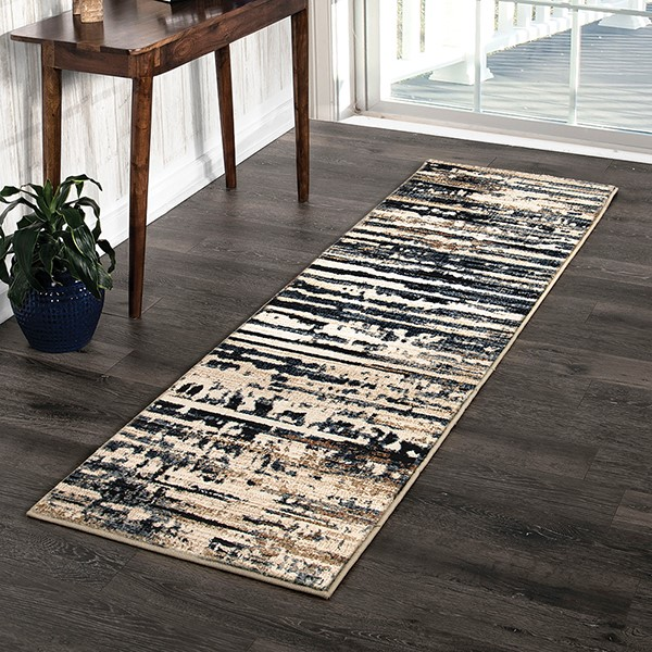 Blue, Beige, Rust (8234) Abstract Area Rug