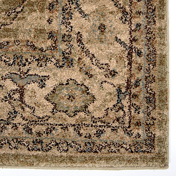 Green, Ivory (8202) Traditional / Oriental Area Rug