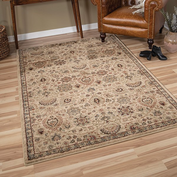 Ivory, Beige (8206) Traditional / Oriental Area Rug