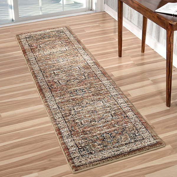 Rust, Ivory, Beige (8203) Traditional / Oriental Area Rug