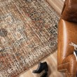Product Image of Rust, Ivory, Beige (8203) Traditional / Oriental Area Rug