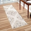 Product Image of White, Beige, Grey (8214) Damask Area Rug