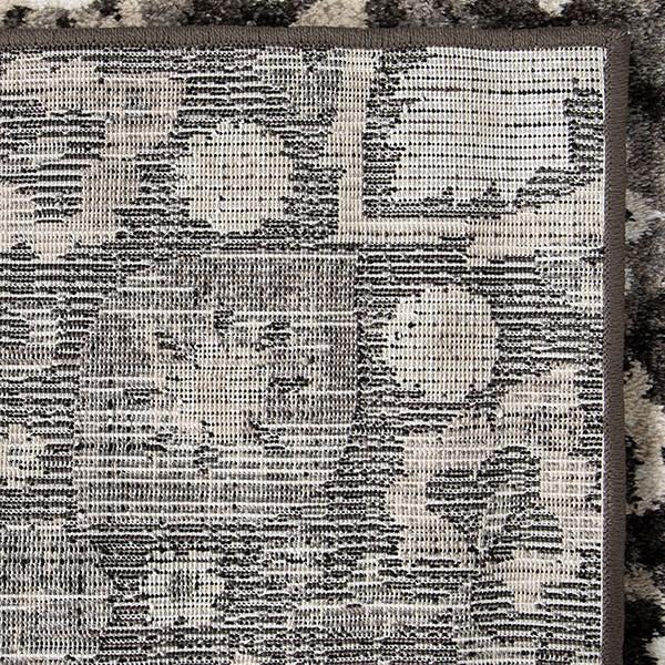 Black, Grey, Silver, White (8215) Damask Area Rug