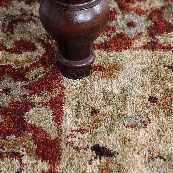 Beige, Red (8219) Traditional / Oriental Area Rug