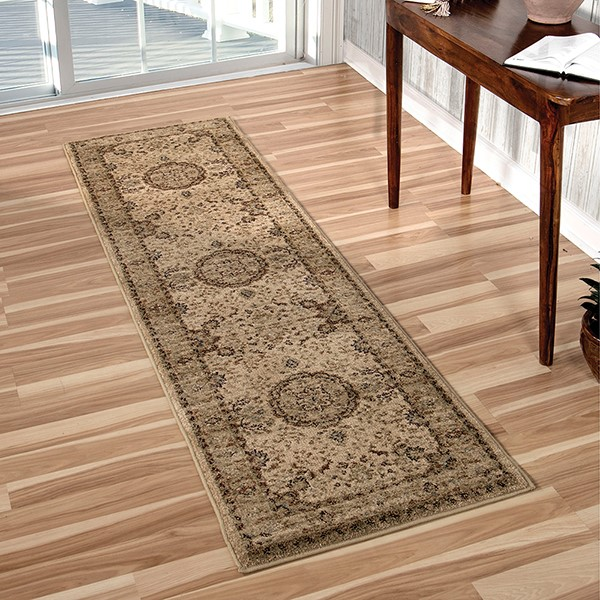 Beige, Red, Blue, Ivory (8210) Traditional / Oriental Area Rug