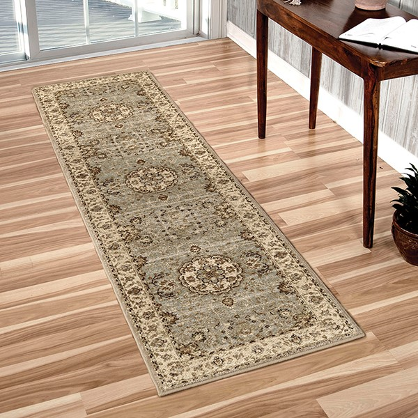 Blue, Ivory, Green, Beige (8211) Traditional / Oriental Area Rug