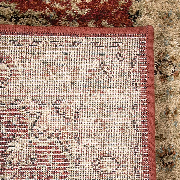 Red, Ivory, Beige (8213) Traditional / Oriental Area Rug