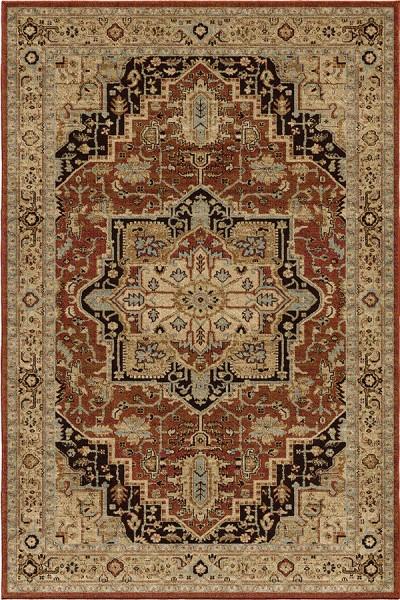 Rouge Rust, Brown, Blue, Beige (8205) Traditional / Oriental Area Rug