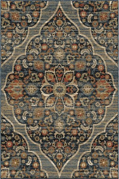 Indigo, Blue, Black (8216) Traditional / Oriental Area Rug