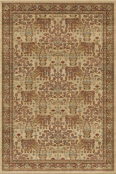 Beige, Ivory, Red (8208) Moroccan Area Rug