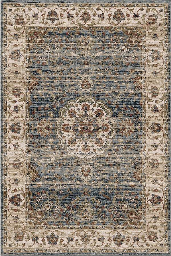 Blue, Indigo, Beige (8212) Traditional / Oriental Area Rug