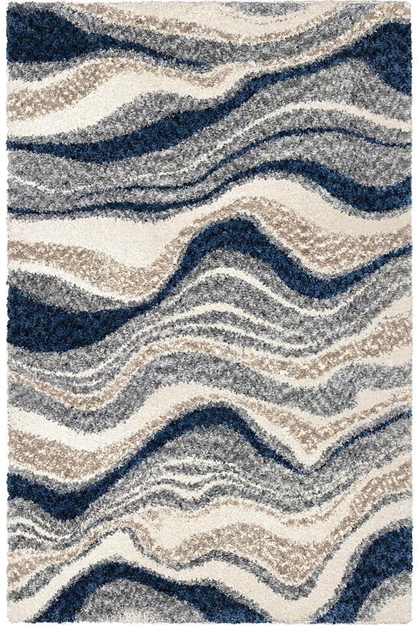Blue, Grey (8310) Shag Area Rug