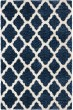 Product Image of Shag Blue, White (8307) Area Rug