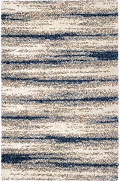 Blue, Grey (8309) Shag Area Rug