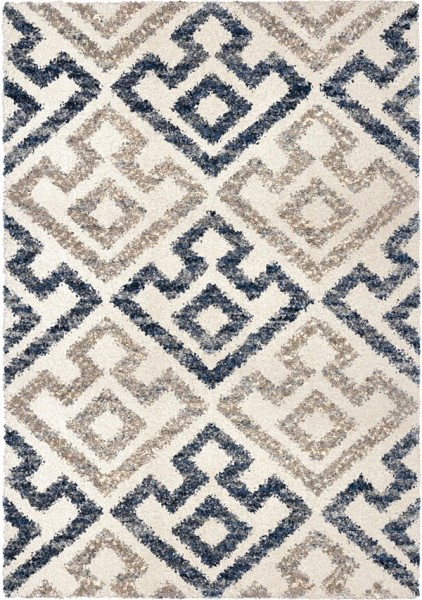 Blue Natural (JA-06) Shag Area Rug