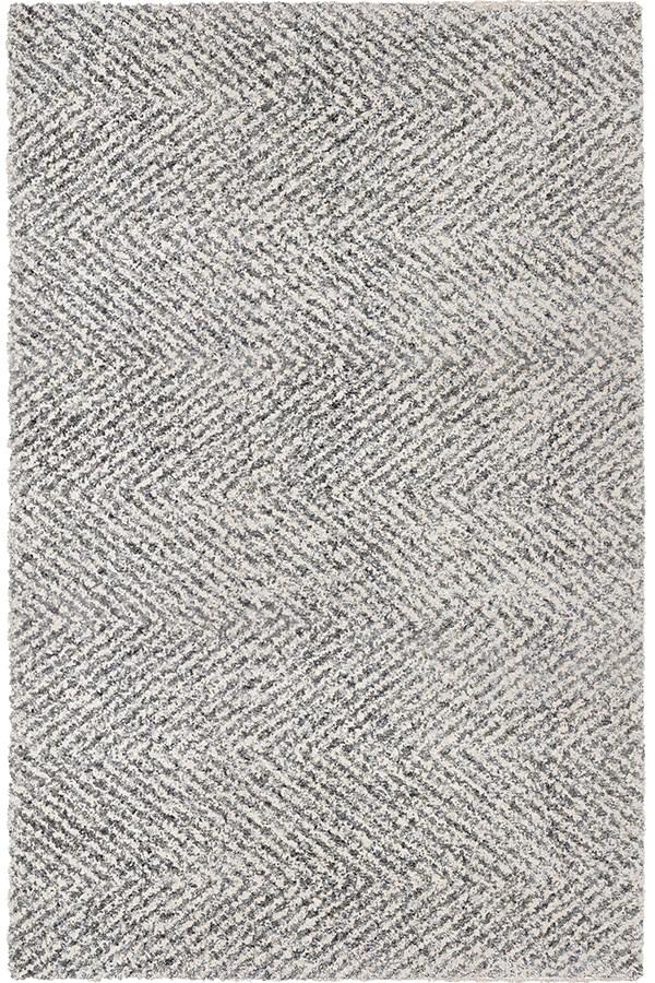 Grey, Ivory (JA-07) Shag Area Rug