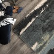 Product Image of Dark Blue, Blue (7011) Abstract Area Rug