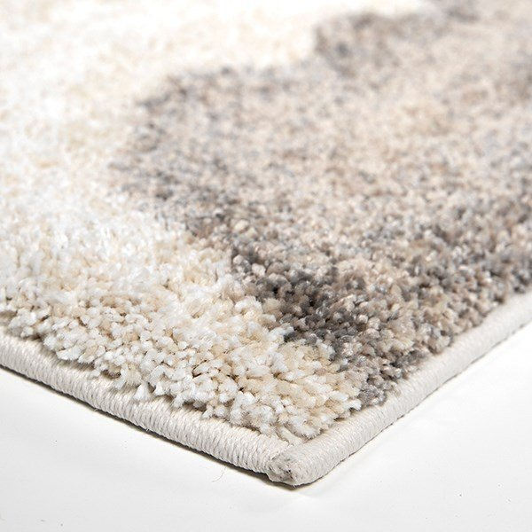 Grey, Ivory (7002) Abstract Area Rug