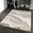 Product Image of Grey, Ivory (7002) Abstract Area Rug