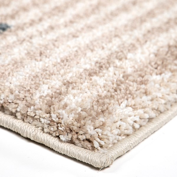 Ivory, Blue (7013) Moroccan Area Rug