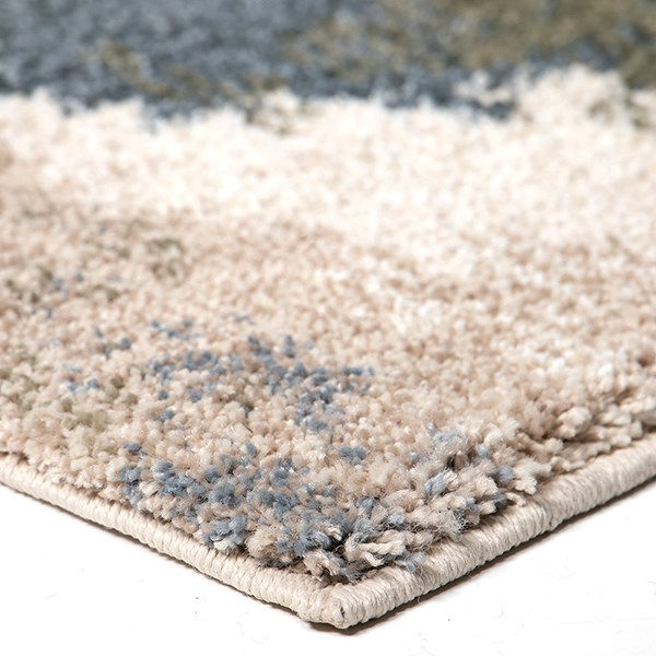 Ivory, Blue (7014) Abstract Area Rug