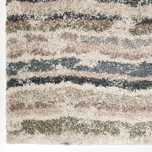 Green, Blue (7016) Striped Area Rug