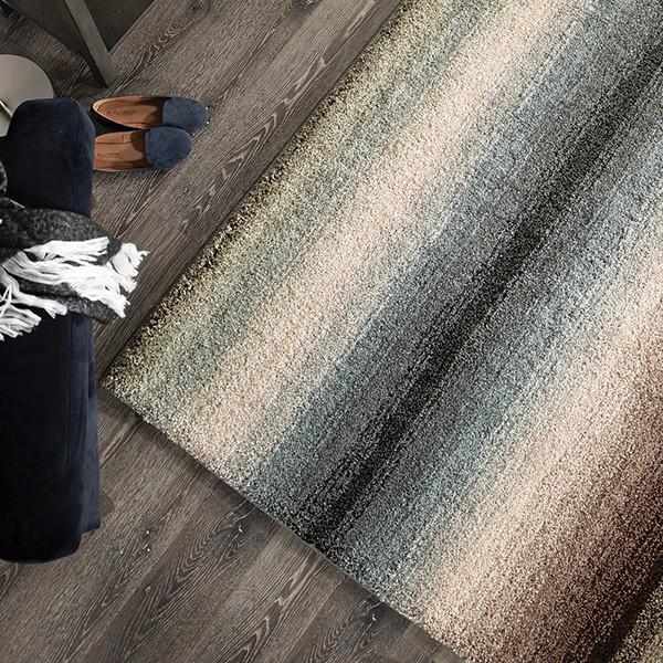 Blue, Grey (7018) Contemporary / Modern Area Rug