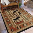Product Image of Beige, Brown, Red (4608) Southwestern / Lodge Area Rug