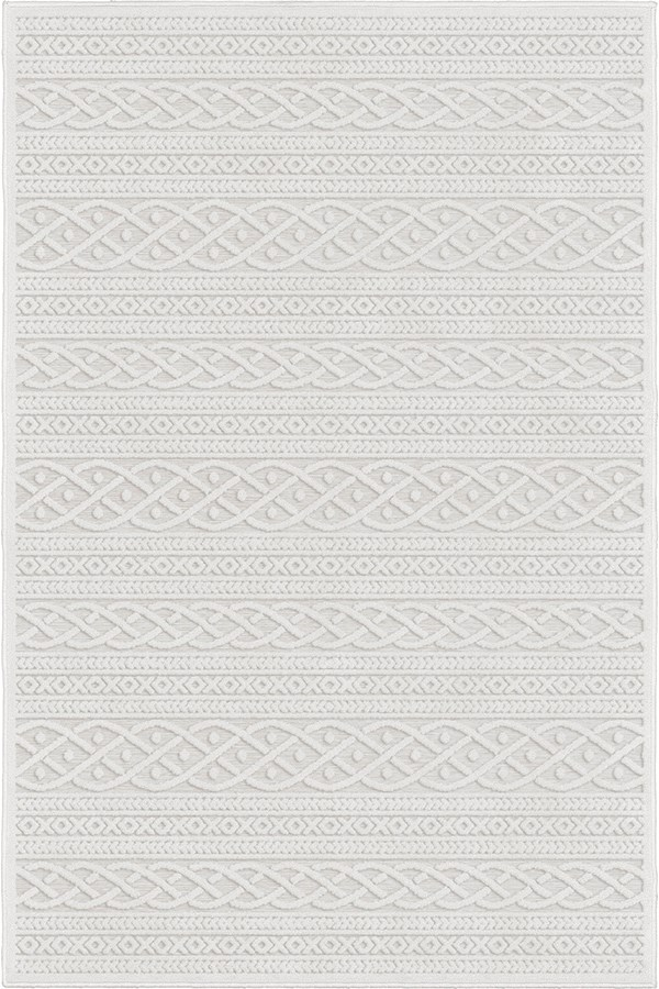Natural Striped Area Rug