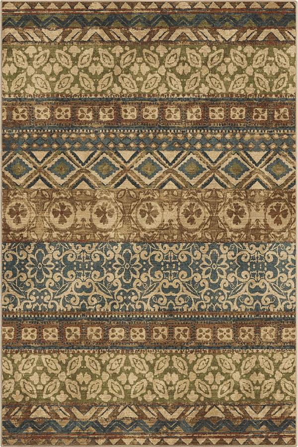 Brown, Tan (4800) Moroccan Area Rug