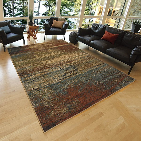 Brown, Tan (4805) Transitional Area Rug