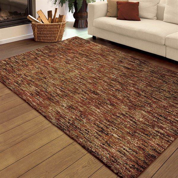 Red Shag Area Rug