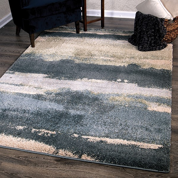 Soft Blue Shag Area Rug