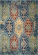 Product Image of Light Blue, Tan, Red (4513) Bohemian Area Rug