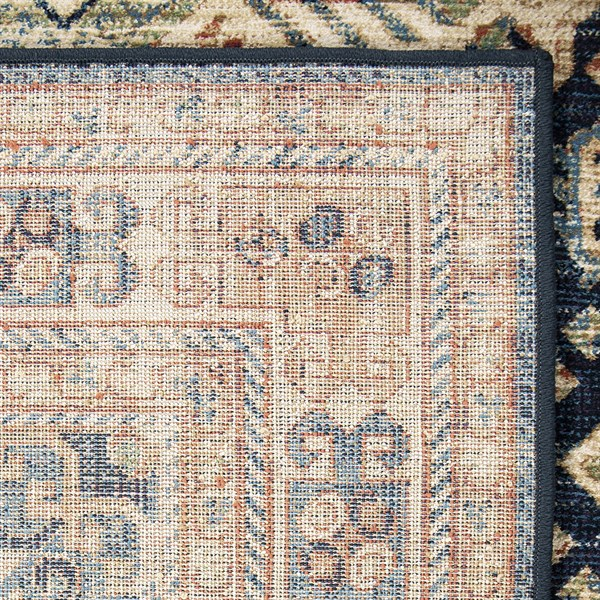 Brown, Blue, Orange Traditional / Oriental Area Rug