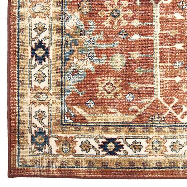 Rust, Tan Traditional / Oriental Area Rug