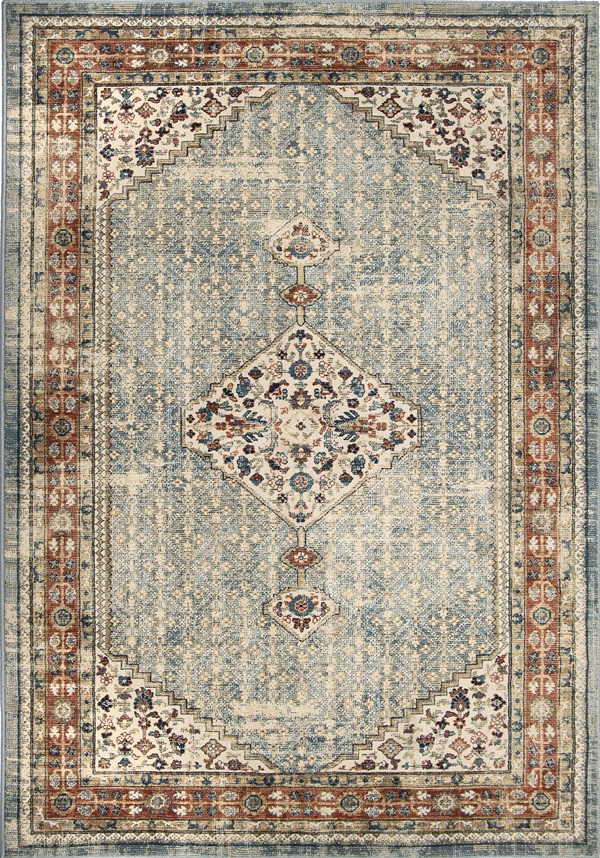 Taupe, Rust Transitional Area Rug