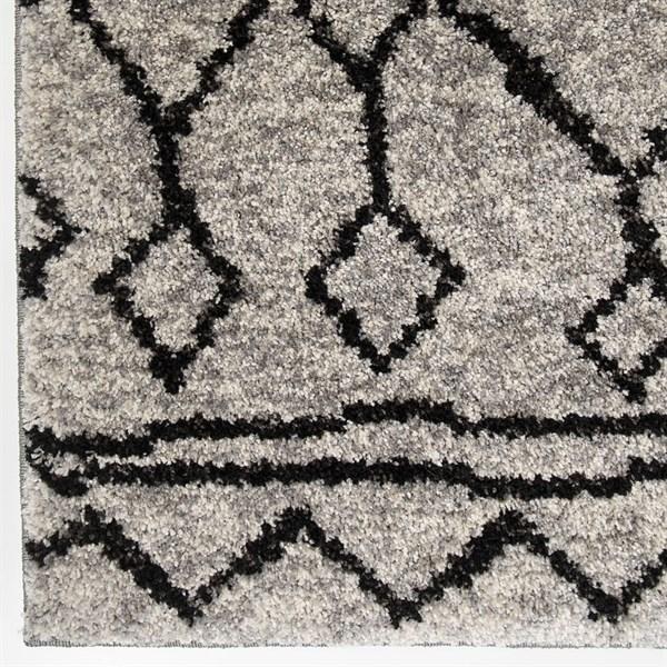 Grey, Black (8421) Moroccan Area Rug