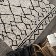 Product Image of Grey, Black (8421) Moroccan Area Rug