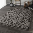 Product Image of Grey, Black (8428) Moroccan Area Rug