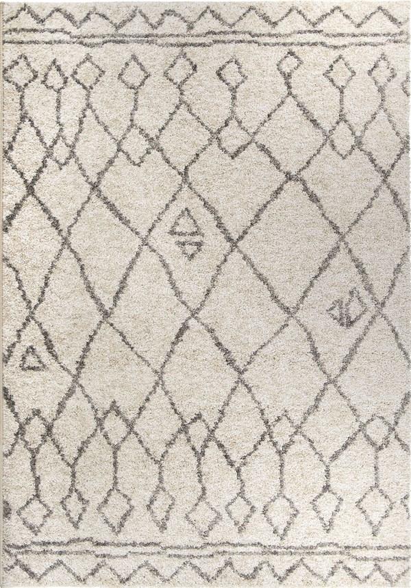 Ivory, Grey (8420) Moroccan Area Rug