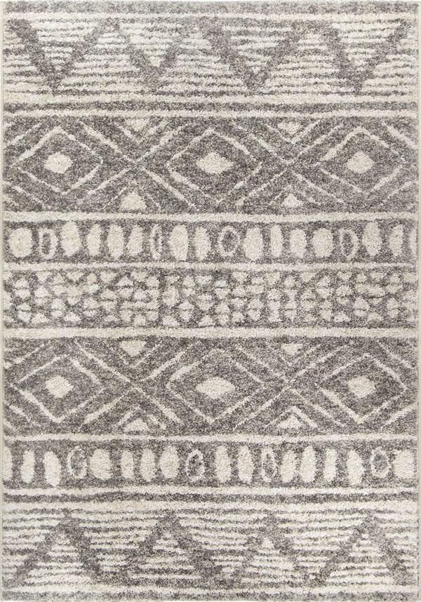 Grey, Ivory Moroccan Area Rug