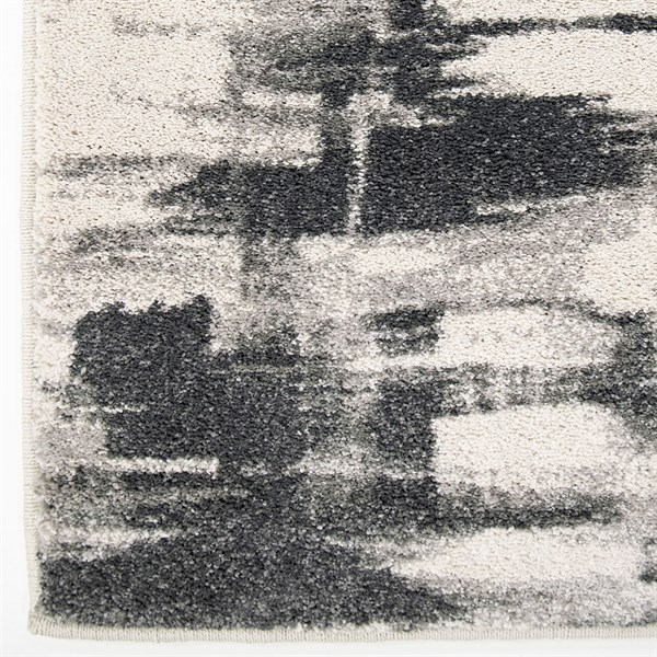 Grey, Beige, Brown (9008) Abstract Area Rug