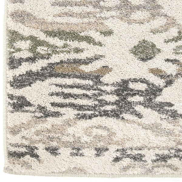 Beige, Brown, Grey (9010) Ikat Area Rug