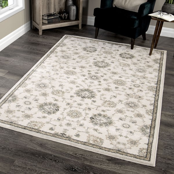 Beige, Grey, Tan (9013) Traditional / Oriental Area Rug