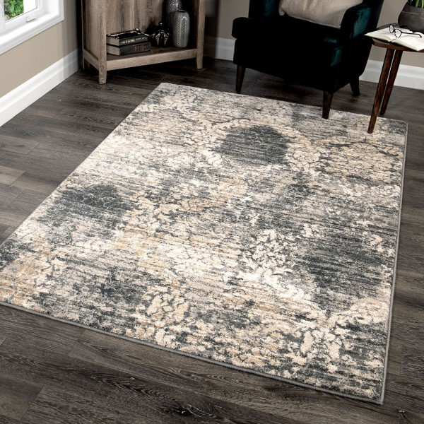 Beige, Taupe, Grey (9016) Traditional / Oriental Area Rug