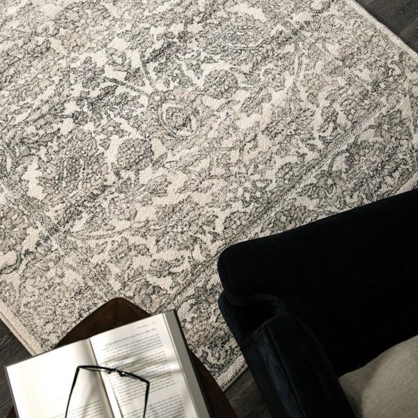Beige, Grey (9018) Traditional / Oriental Area Rug