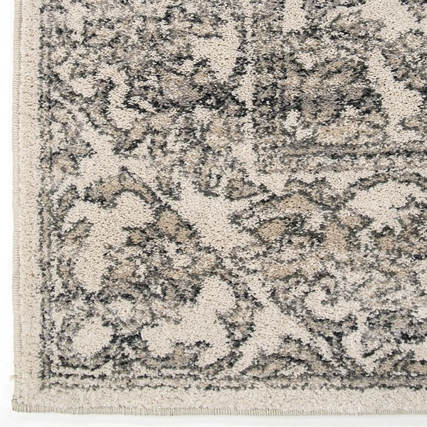 Beige, Grey (9018) Traditional / Oriental Area Rug